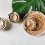 Empty ceramic dishes